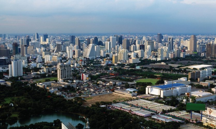 Vue panoramique de Bangkok.