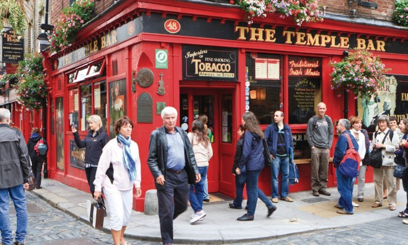 The Temple Bar is a pub frequented by the Writers.