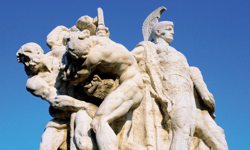 Statue du pont Victor-Emmanuel II.