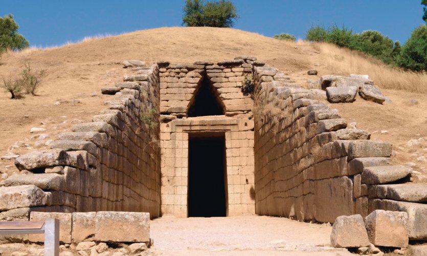 Trésor d'Atrée sur le site antique de Mycènes.