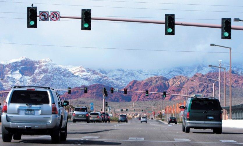 A l'ouest de Las Vegas, le Red Rock Canyon est un parc de 1000 km2.