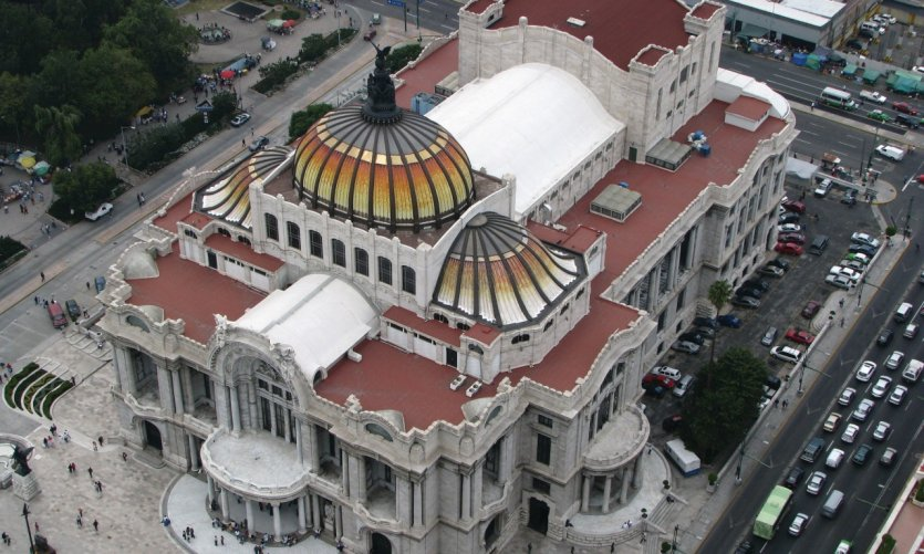 <p>El Palacio de Bellas Artes visto desde la Torre Latinoamericana.</p>