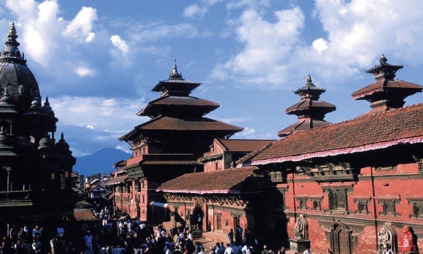 La place du Palais royal de Patan est l'un des plus beaux exemples de l'architecture newar.