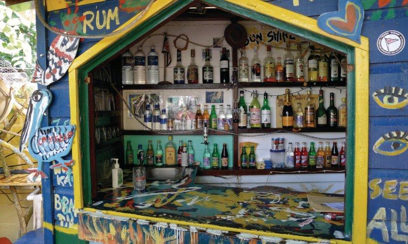 Bar typique à Union Island.