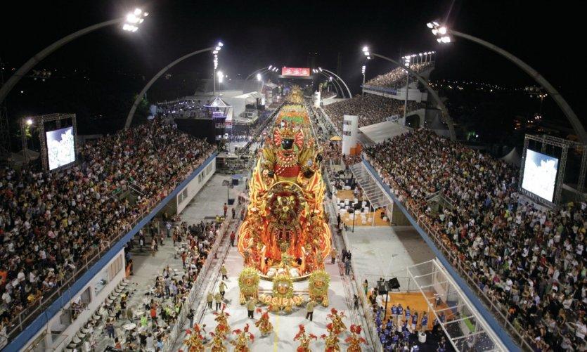 Carnaval de Sao Paulo, char de l'école de samba Mocidade Alegre