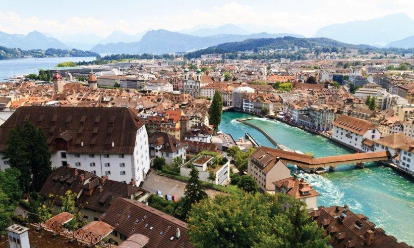 Vue sur la ville de Lucerne.