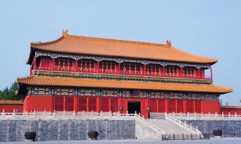 La Cité Interdite - Porte de la Droiture (Duanmen) - Cour du palais de l'Harmonie suprême (Taihemen).