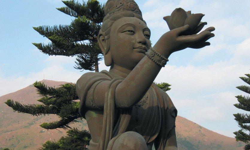 Monastère de Po Lin, statue, Lantau.