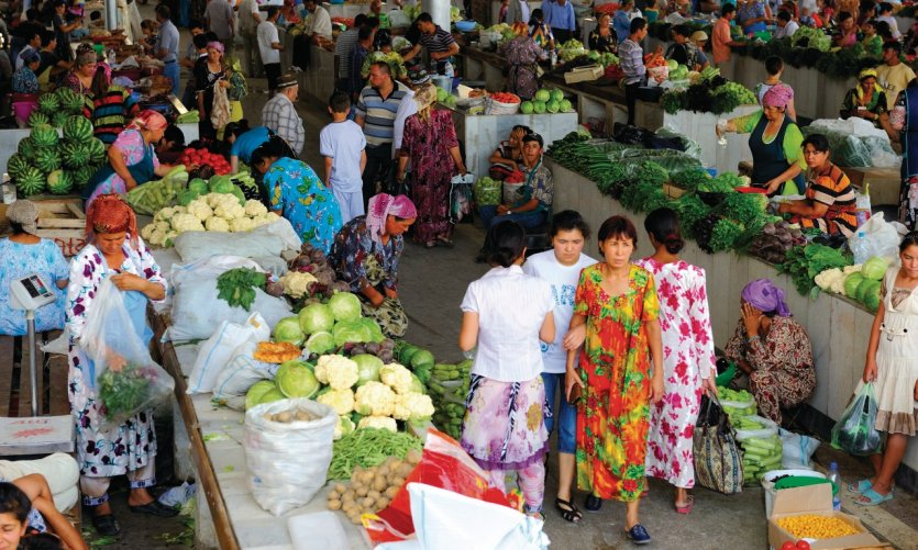 Bazar de Samarkand.