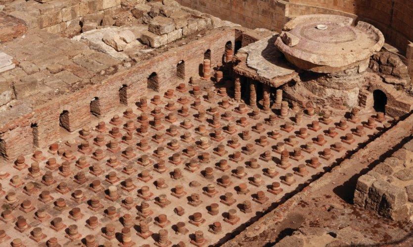 Vestige des thermes romains