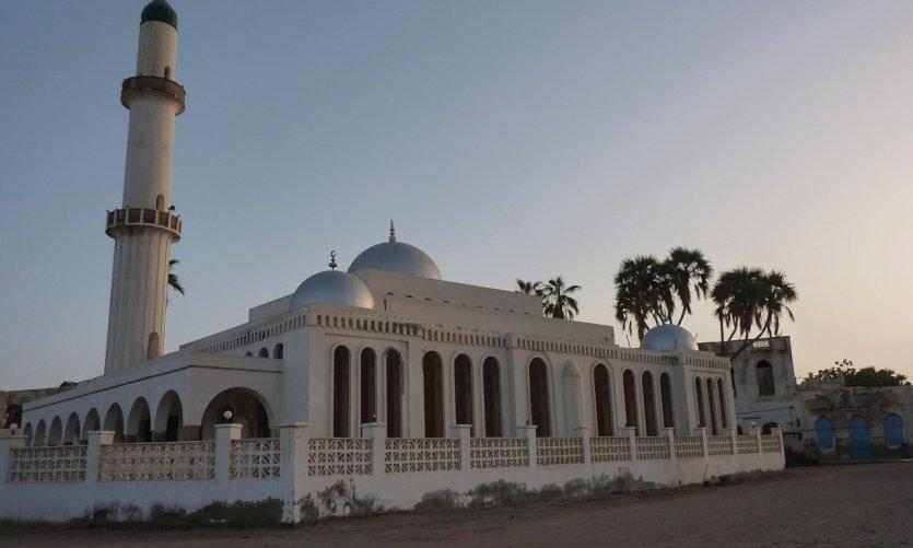 Coucher de soleil sur la Grande Mosquée de Massawa.