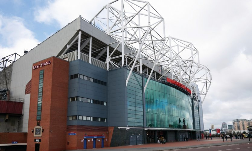 Old Trafford stadium.