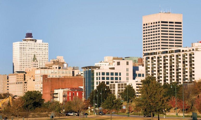 Ciudad de Memphis desde Tom Lee Park.