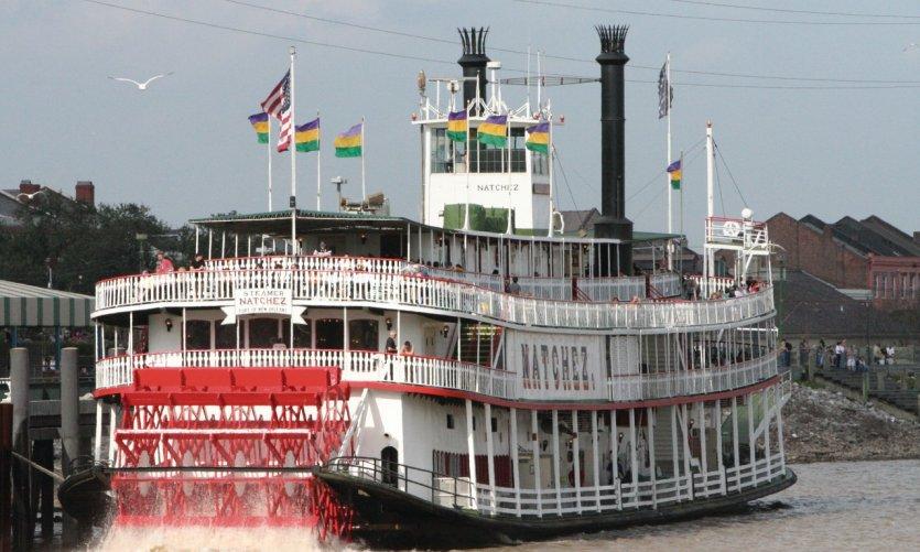 Bateau à vapeur sur le Mississippi.