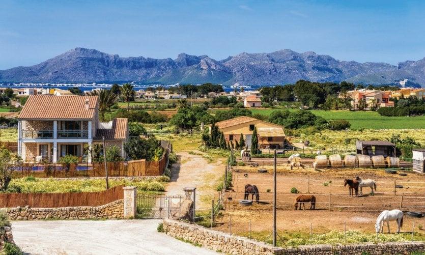 Paisaje rural cerca de Alcúdia.
