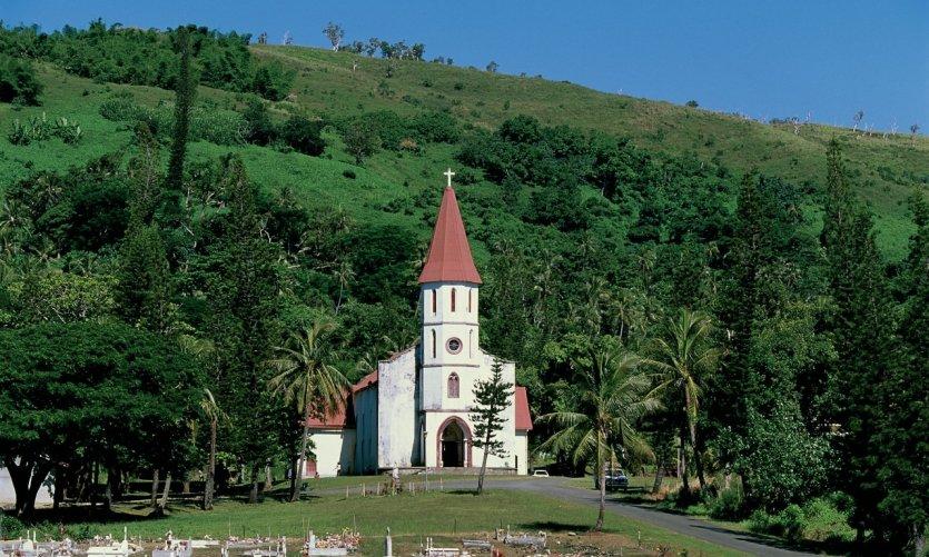 L'église de Tyé aux alentours de Poindimié