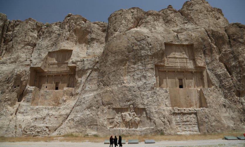 <p>Le site archéologique de Naqsh-e Rostam, dans la province du Fars.</p>
