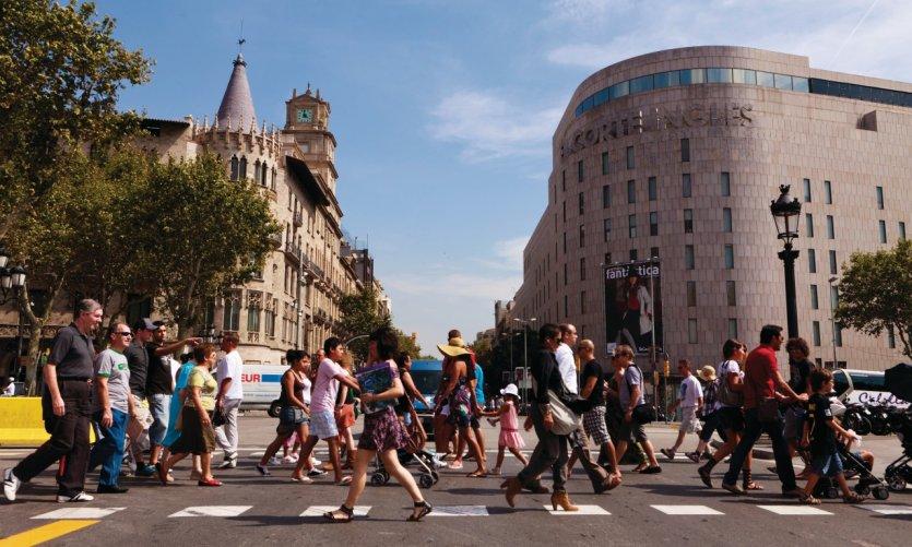 El Corte Inglés, magasin de la Plaça de Catalunya.