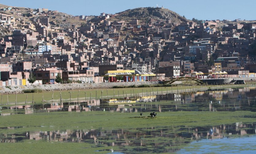 Puno views from the lake.