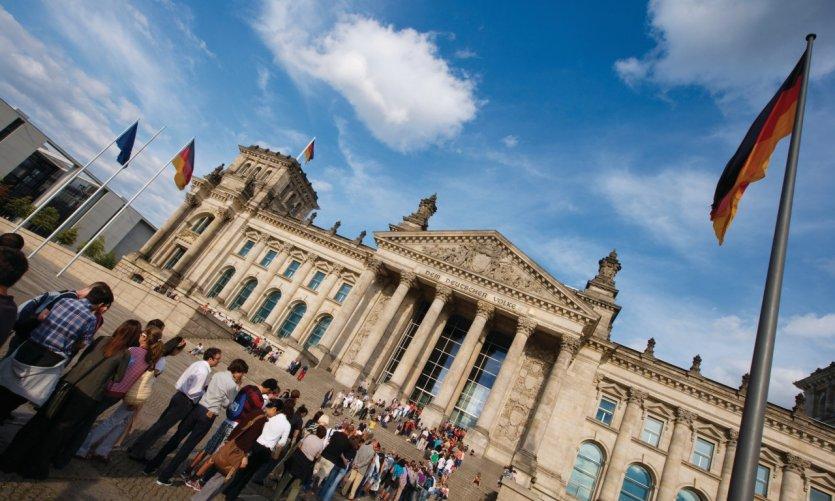 Fil d'attente pour visiter le Reichstag