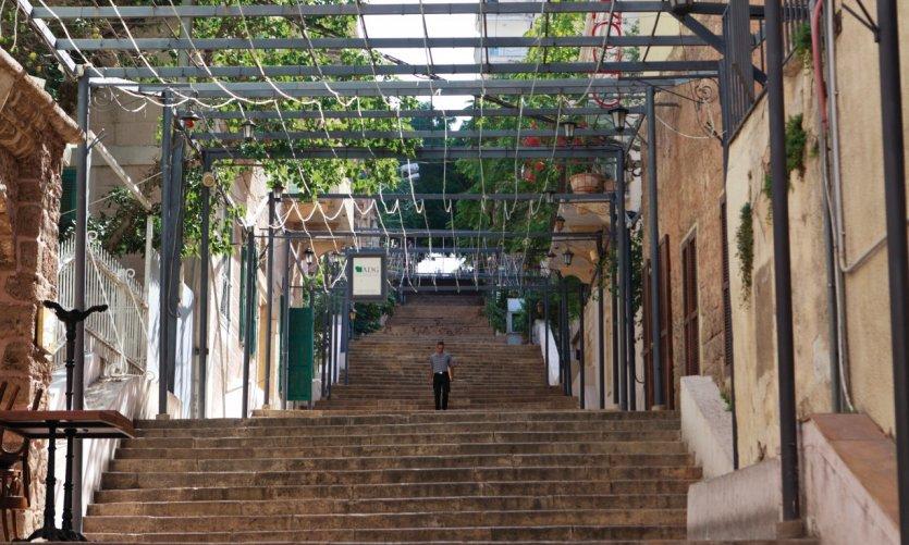 L'escalier Saint-Nicolas dans le quartier Gemmayzé
