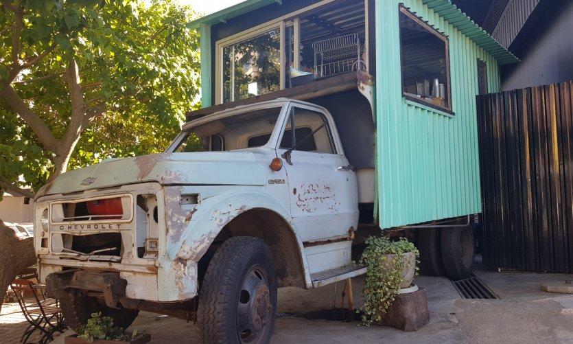 Food truck dans le quartier de Maboneng.