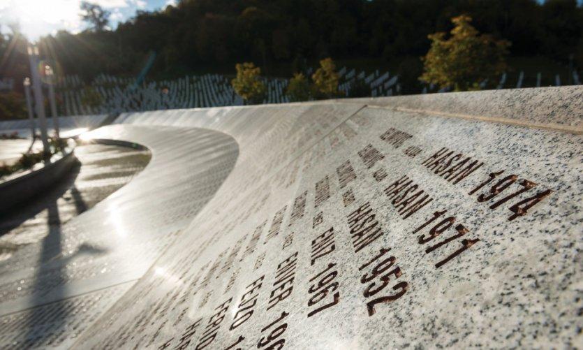 Mémorial du génocide de Srebrenica.