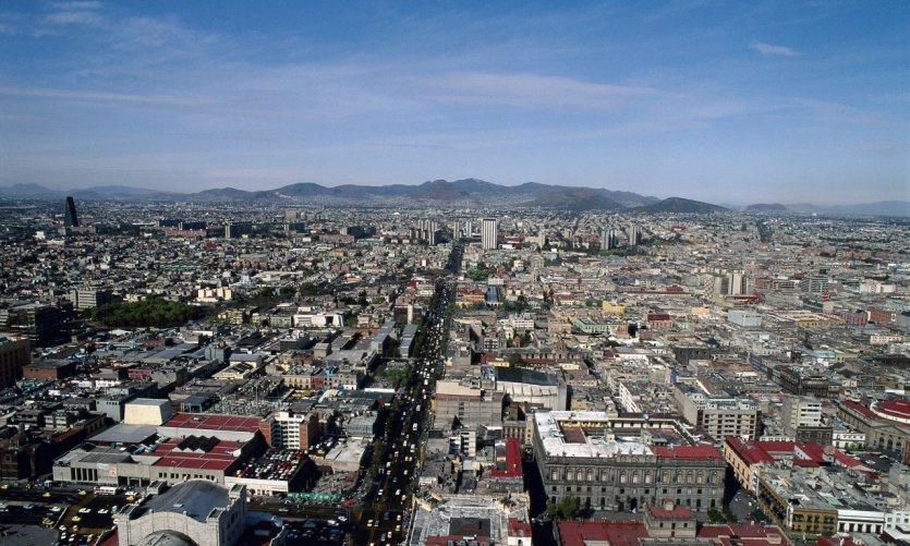 Panorama de la ciudad de México.