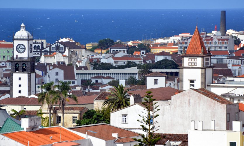 Ciudad de Ponta Delgada.