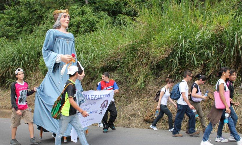 Marche annuelle de Nuestra Señora de los Ángeles