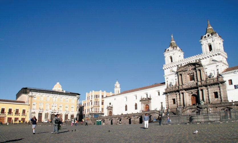 Église San Francisco, inmanquable trésor de Quito.