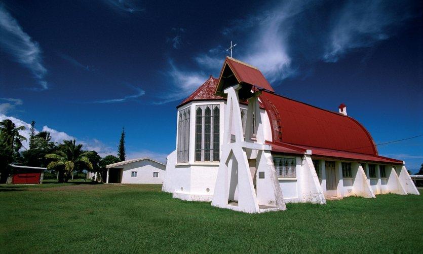 <p>L'église de Koumac.</p>