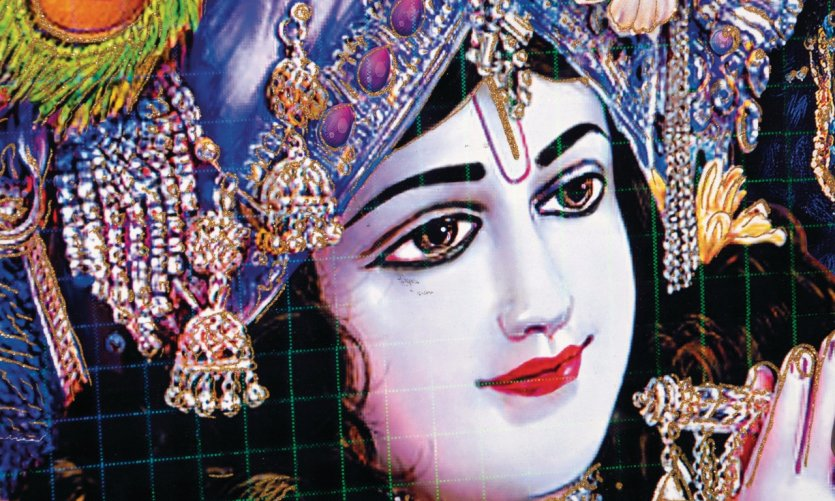 Les divinités sont parfois peintes dans les rues de New Delhi.