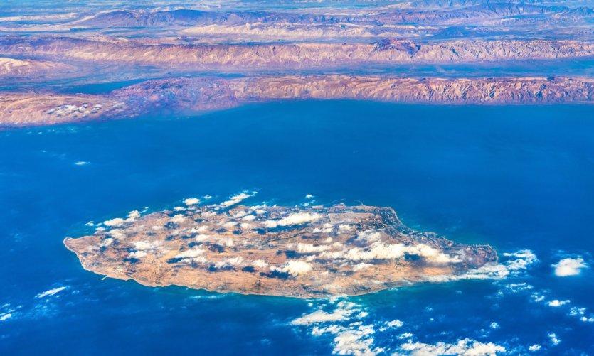 Vue aérienne de l'île de Kish.