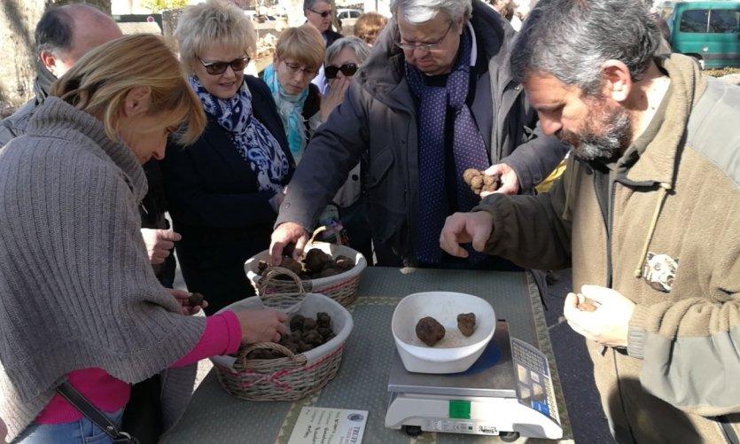 Un jeudi de marché aux truffes noires.
