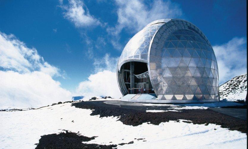 Observatoire au sommet du Mauna Kea.
