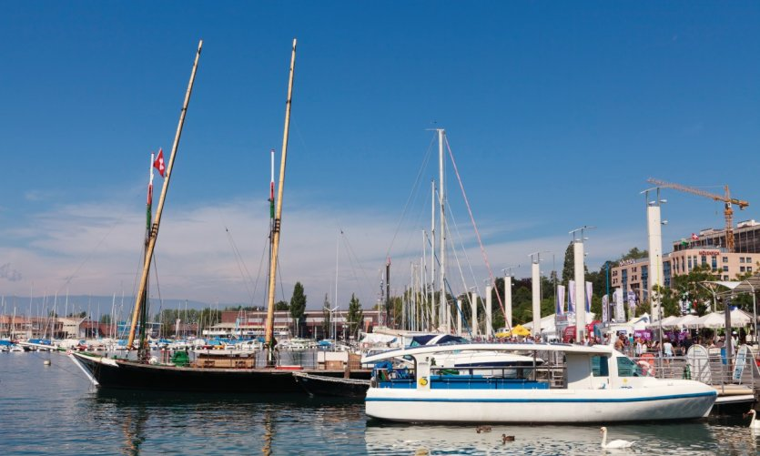 Le port d'Ouchy.