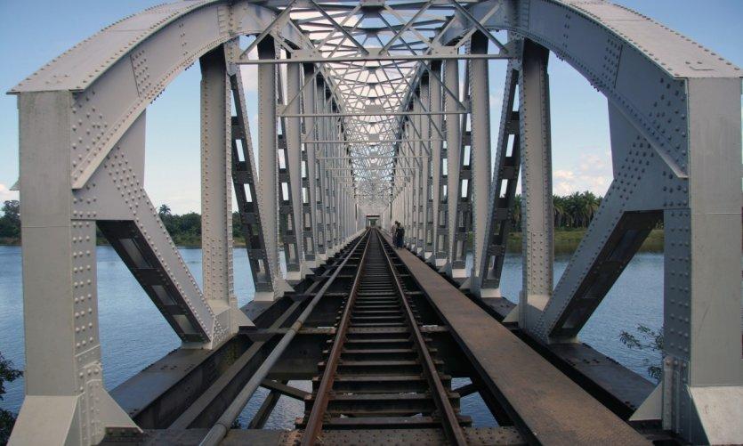 Railway bridge near Tamatave
