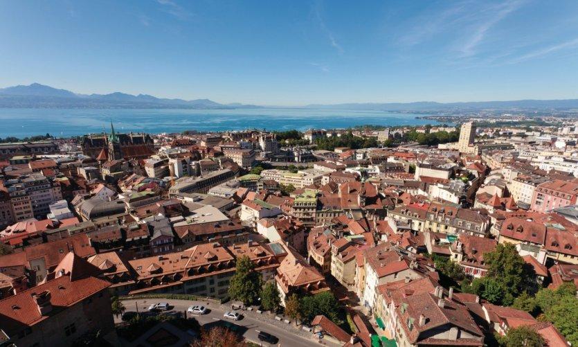 Vue de Lausanne.