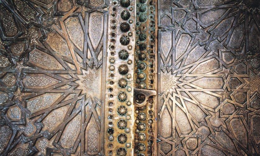 <p>Porte de la mosquée Sidi Boumediene.</p>