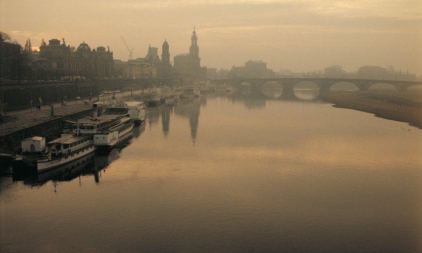 L'Elbe au coucher du soleil
