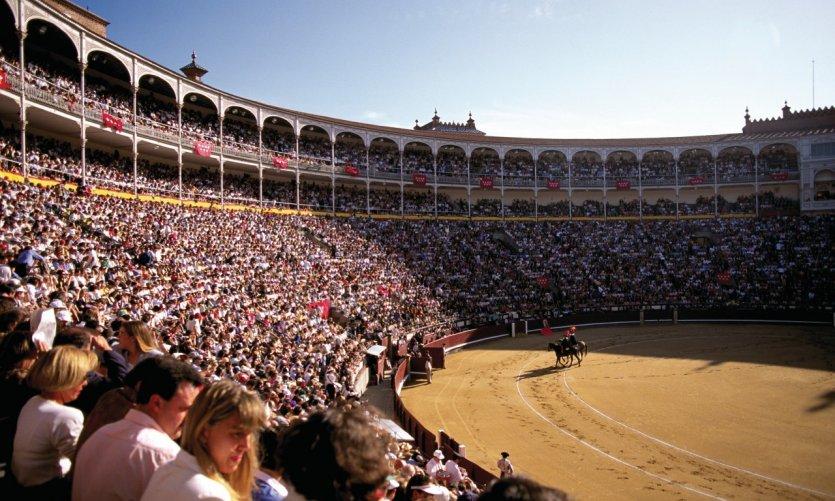 Corrida dans les arènes de Madrid lors des fêtes de San Isidro.