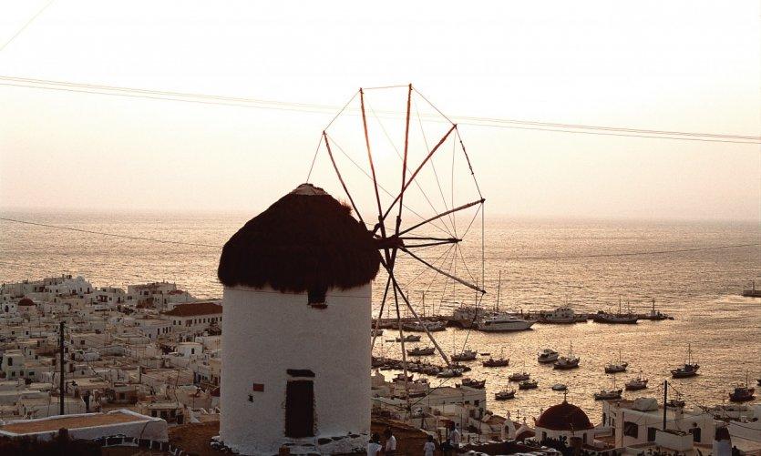 Moulin sur l'île de Rhodes.