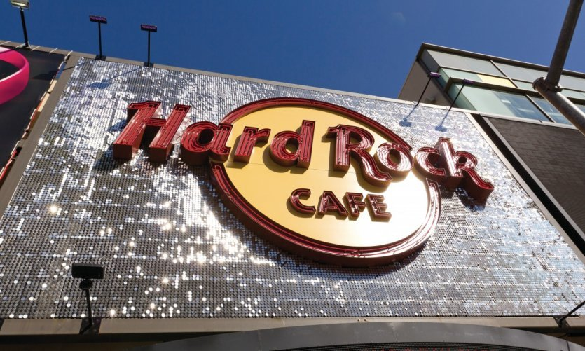 Hard Rock Cafe sur Hollywood Boulevard.
