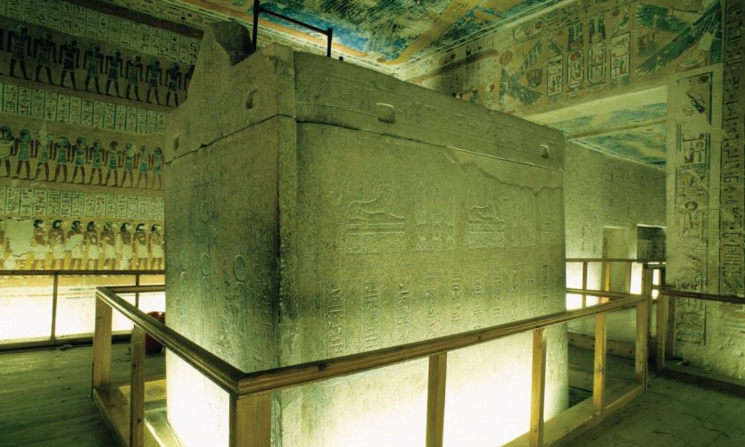 <p>Tomb of Rameses IX in the valley of kings.</p>