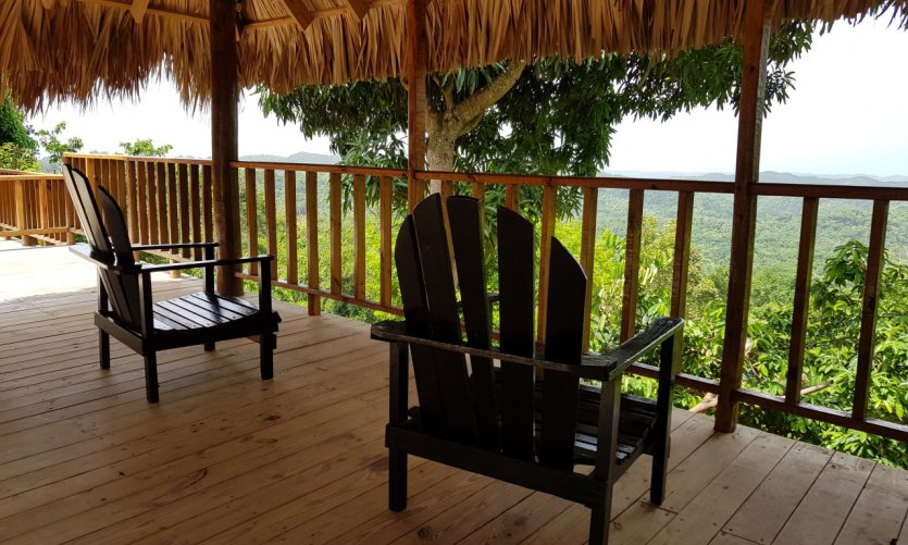<p>The lush nature behind Negril.</p>