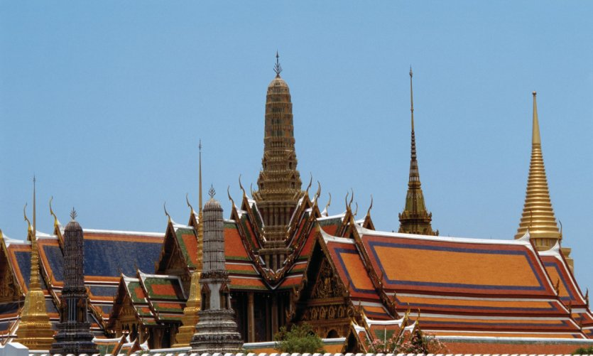 Wat Phra Kaew and the Grand Palais.