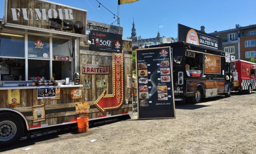 Food trucks au BBQ Fest de Québec.