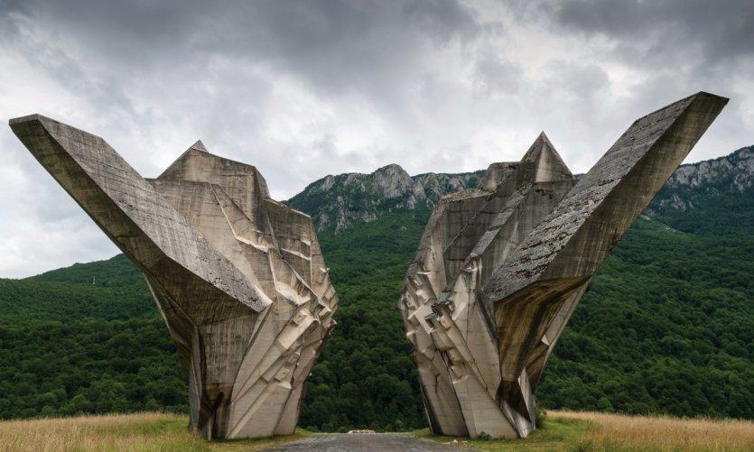 Monument de la bataille de la Sutjeska, dans le parc national de Sutjeska.