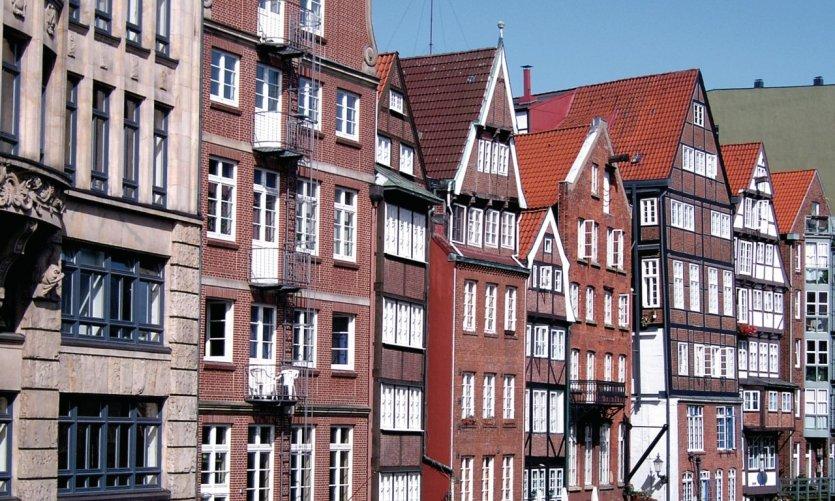 <p>Maisons à Hambourg.</p>
